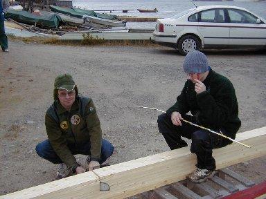 Mikael sågar och Markus planerar fortsättningen
